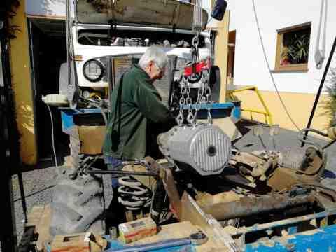 Motor Einbau